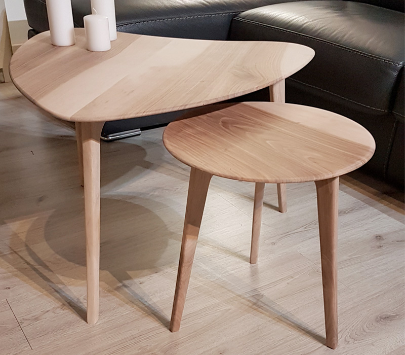 table basse frêne sur mesure